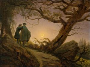 Caspar David Friedrich - Zwei Männer in Betrachtung des Mondes
